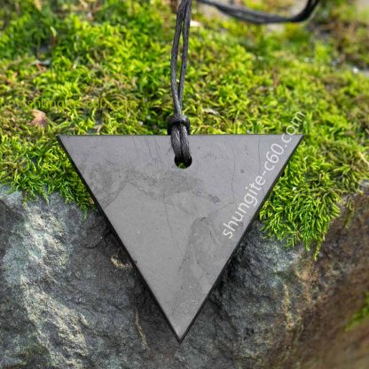 women's shungite pendant triangle