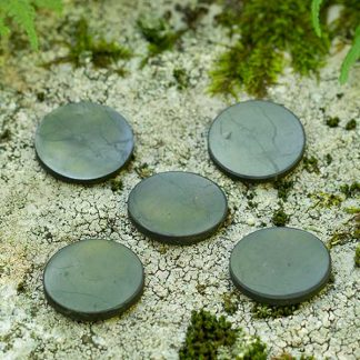 shungite plates for phone round shape