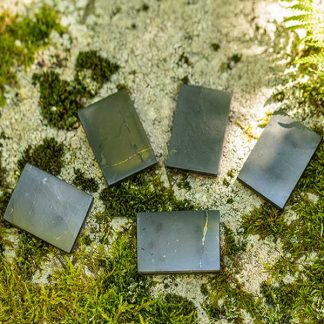 square shungite plate for phone