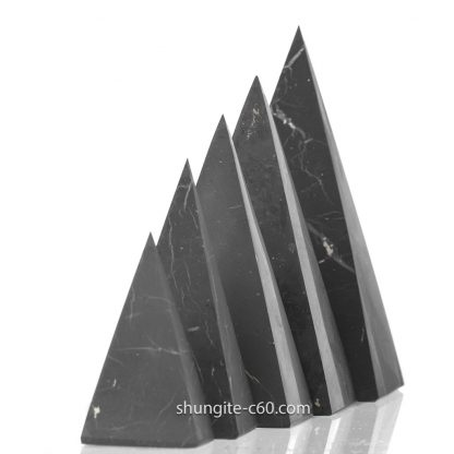 shungite pyramids unpolished surface