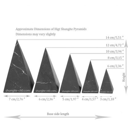 buy a shungite pyramid high and choose a size