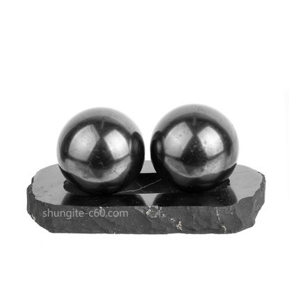 shungite spheres on base