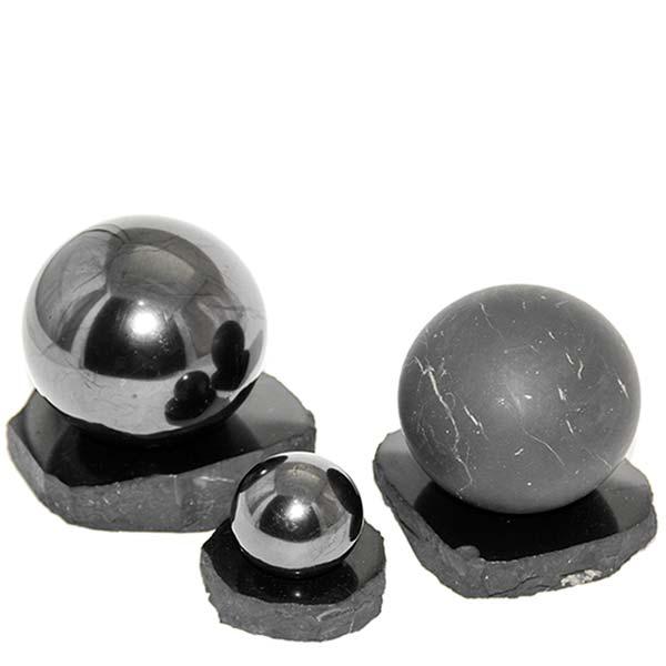sphere made of shungite stone
