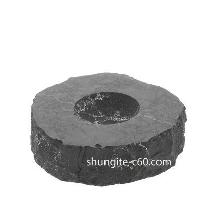 Shungite Stands for Spheres oval shape