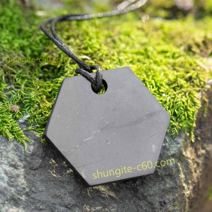 shungite pendant hexagon