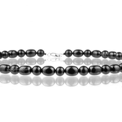 shungite jewelry with natulal stone beads