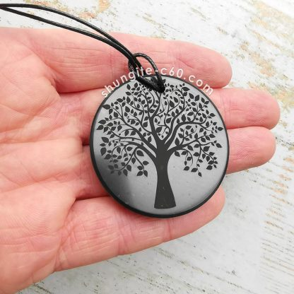 shungite pendant tree of life size of 45 mm