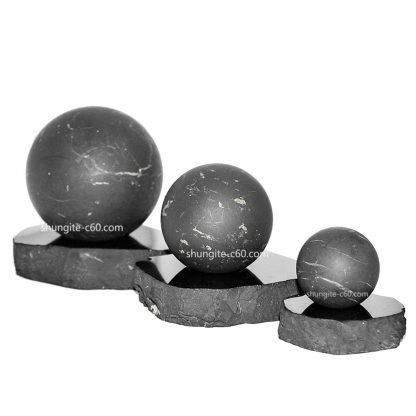 shungite sphere unpolished made of natural stone
