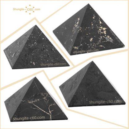 shungite stone pyramids unpolished
