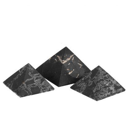 original shungite pyramids with quartz