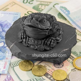 shungite figurine money toad