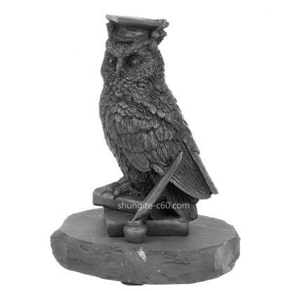 shungite figurine wise owl