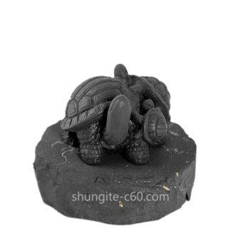 figurine made of shungite turtles