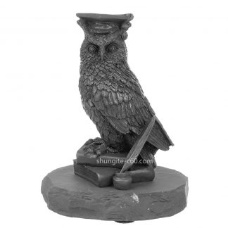 Figurine made of shungite wise owl