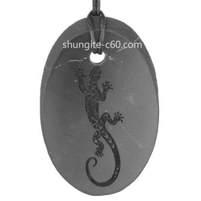 engraved pendant of stone shungite
