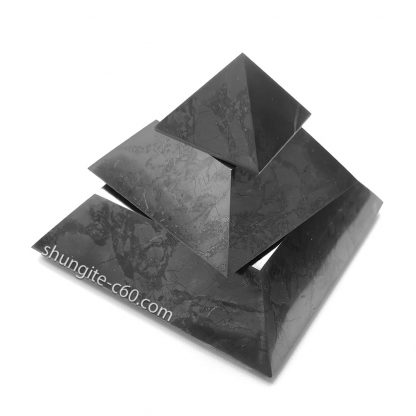 shungite pyramid 10 cm from Karelia