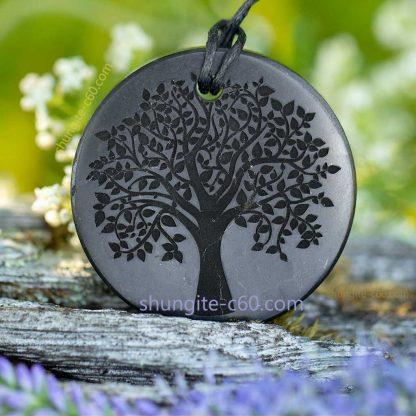 tree of life necklace engraved of shungite stone