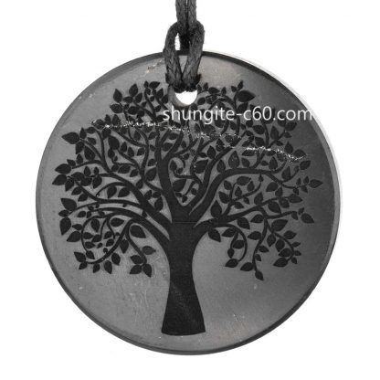 tree of life necklace of shungite raw stone