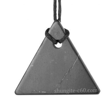 shungite pendant triangle