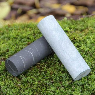 cylinders made of shungite and soapstone for meditation