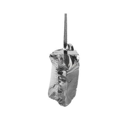 noble shungite stone pendant silver color
