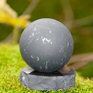 Shungite Spheres and Stands