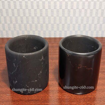 shungite mug polished and unpolished