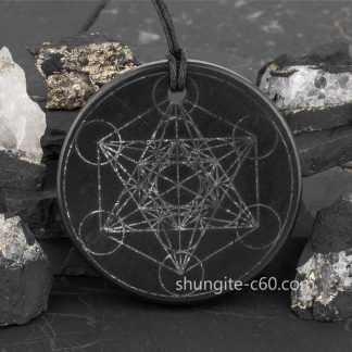 Metatron Cube Pendant of shungite