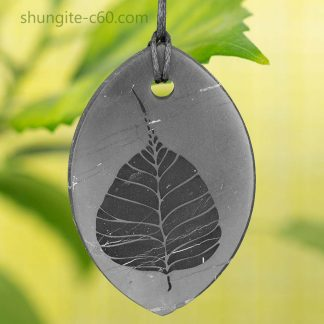 shungite engraved pendant Pipal tree