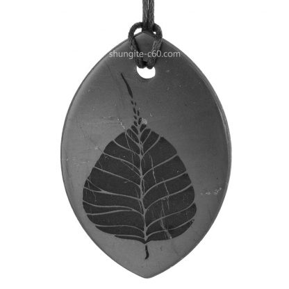 shungite engraved pendant Bodhi tree
