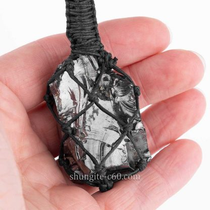 russian stone pendant made of elite shungite for 5G protection lot 23