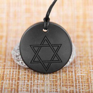 shungite amulet star of David 35 mm