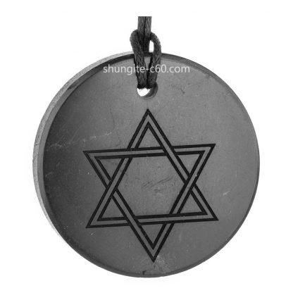 amulet star of David made of shungite stone