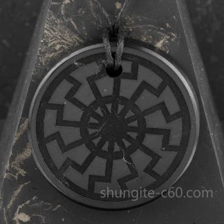 Black Sun pendant made of rare stone