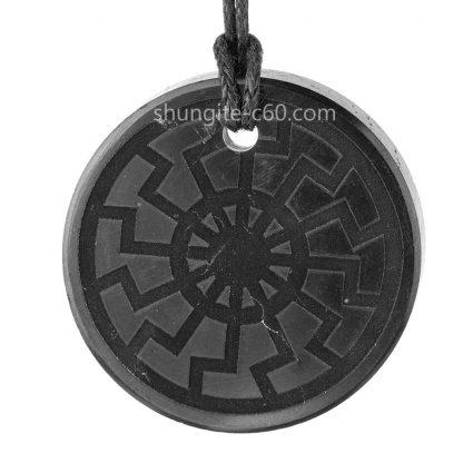 shungite-engraved-amulet-Schwarze-Sonne