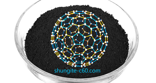 Shungite powder fullerenes