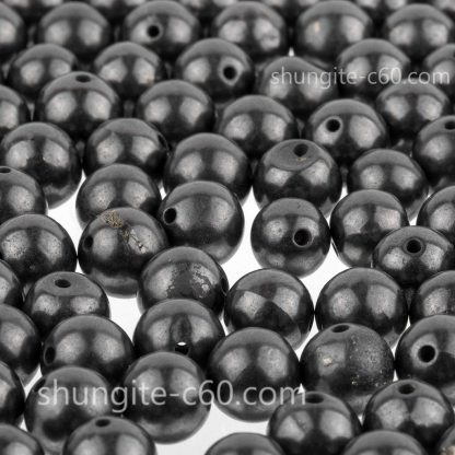 raw shungite beads 8mm