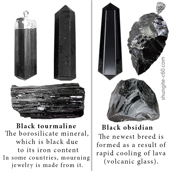 Tourmaline and Obsidian Pendant