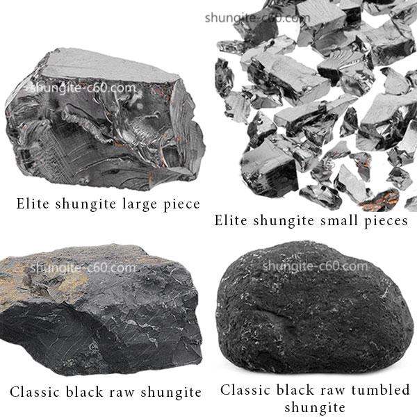 black and silver shungite