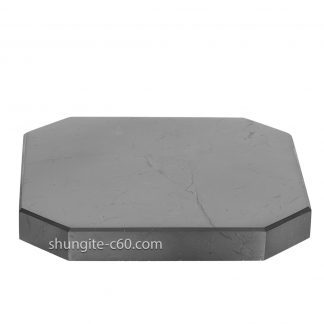 square shungite tile made of natural shungite