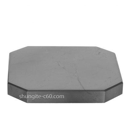 square shungite tile made of natural shungite