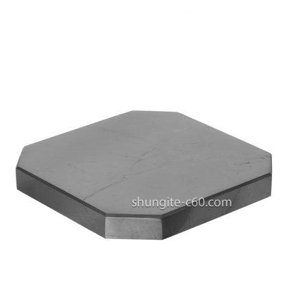 square shungite tile made of raw shungite