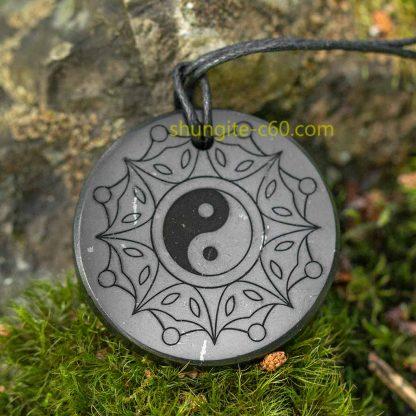 shungite pendant yin and yang
