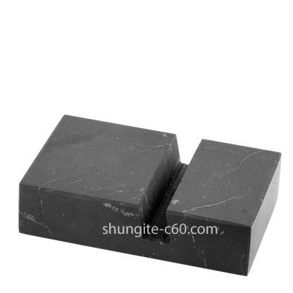 shungite base for cell phone against emf waves