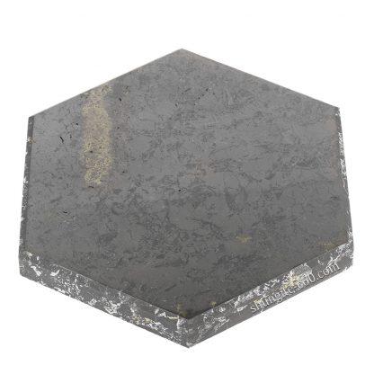 shungite stone plate Hexagon