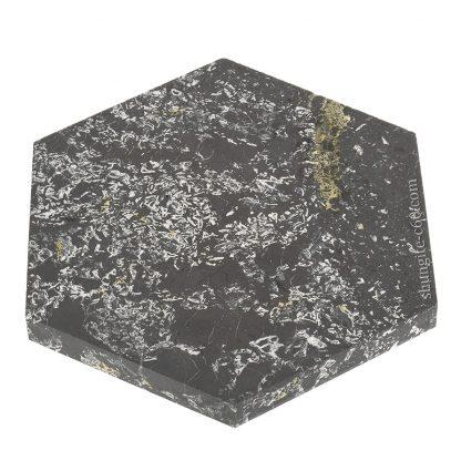 unpolished side of shungite stone plate