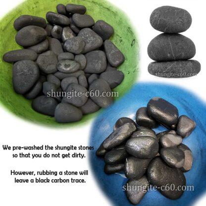 raw karelian black rocks
