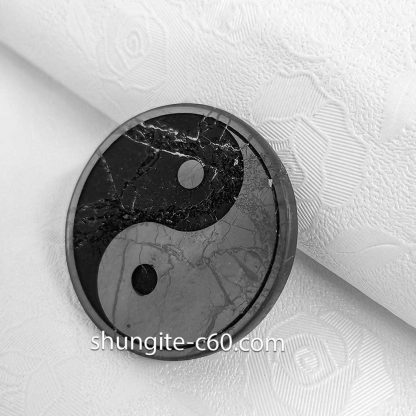 yin yang on a shungite circle