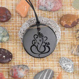 shungite chakra necklace Ganesha