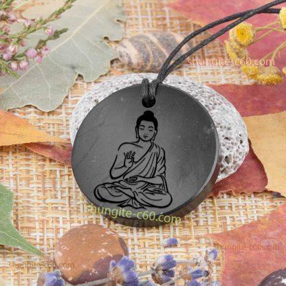 Buddha shungite pendnat